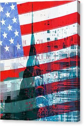 New Paint - New York Chrysler Building I Canvas Print by Joost Hogervorst