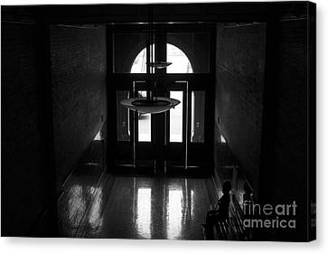 New Photographic Art Print For Sale Bradbury Building 12 Downtown La Canvas Print by Toula Mavridou-Messer