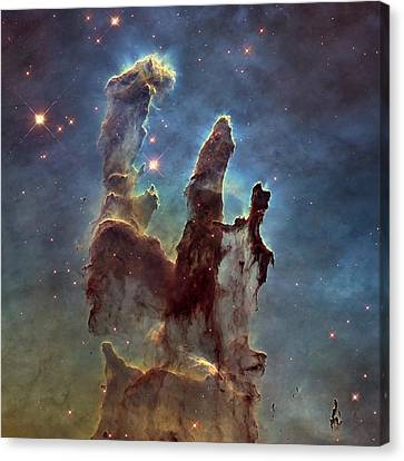 New Pillars Of Creation Hd Square Canvas Print by Adam Romanowicz