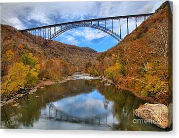 New River Gorge Reflections Canvas Print by Adam Jewell
