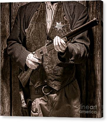 New Sheriff In Town  Canvas Print by Olivier Le Queinec