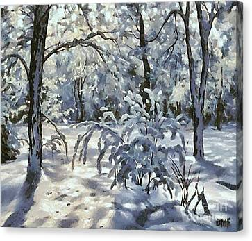 New Snow Canvas Print by Dragica  Micki Fortuna