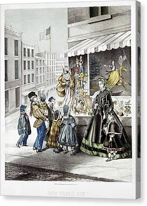 New Year's Eve, 1865 Canvas Print by Granger
