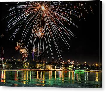 New Years Eve Fireworks Are Legal Canvas Print by Panoramic Images