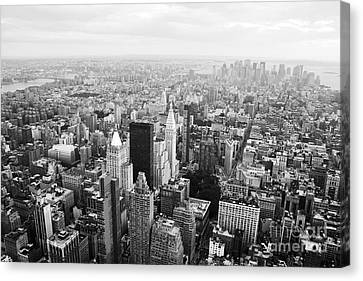 New York Skyline From The Empire State Canvas Print by David Gardener
