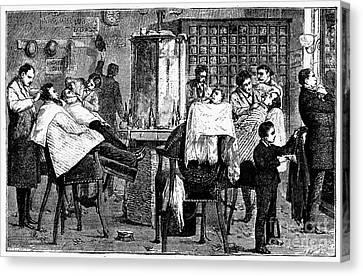 New York: Barbershop, 1882 Canvas Print by Granger