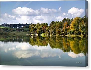 New York Cincinnatus Lake Canvas Print by Christina Rollo