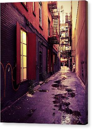 New York City Alley Canvas Print by Vivienne Gucwa