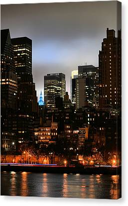 New York City Blue Canvas Print by JC Findley