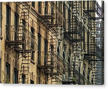 New York City Brownstone Canvas Print by Mountain Dreams