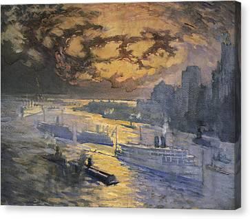 New York City Circa 1921 Canvas Print by Aged Pixel