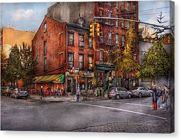 New York - City - Corner Of One Way And This Way Canvas Print by Mike Savad