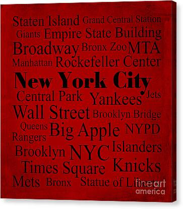New York City Canvas Print by Denyse and Laura Design Studio