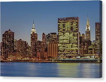 New York City Landmarks Canvas Print by Susan Candelario