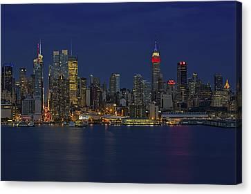 New York City Lights Canvas Print by Susan Candelario