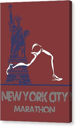New York City Marathon Canvas Print by Joe Hamilton