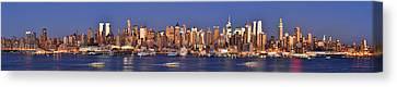New York City Midtown Manhattan At Dusk Canvas Print by Jon Holiday