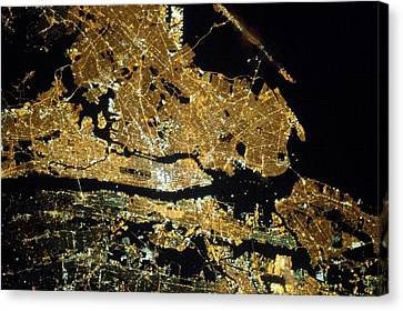 New York City Canvas Print by Nasa