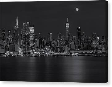 New York City Night Lights Canvas Print by Susan Candelario
