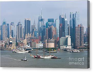 New York City Parade Of Sail I Canvas Print by Clarence Holmes