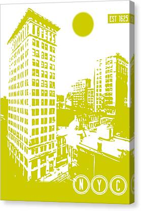 New York City Poster Canvas Print by Celestial Images