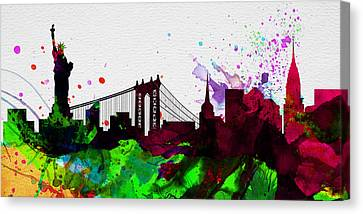 New York City Skyline 2 Canvas Print by Naxart Studio