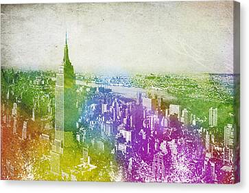 New York City Skyline Canvas Print by Aged Pixel