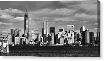 New York City Skyline Black And White Canvas Print by Dan Sproul