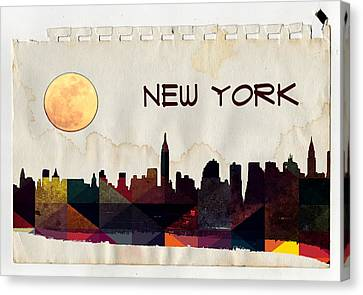 New York City Skyline Canvas Print by Celestial Images