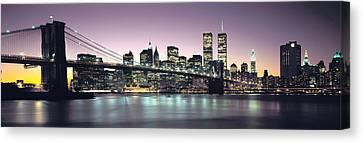 New York City Skyline Canvas Print by Jon Neidert