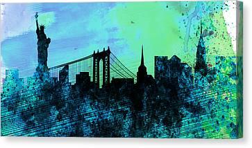 New York City Skyline Canvas Print by Naxart Studio