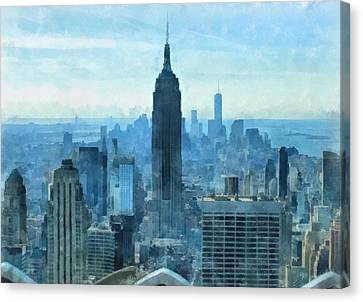 New York City Skyline Summer Day Canvas Print by Dan Sproul