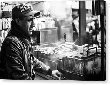 New York City Street Vendor 2 Canvas Print by David Morefield