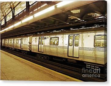 New York City Subway 2 Canvas Print by Sarah Loft