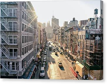 New York City - Sunset Above Chinatown Canvas Print by Vivienne Gucwa