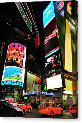New York City - Times Square 004 Canvas Print by Lance Vaughn