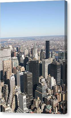 New York City - View From Empire State Building - 121217 Canvas Print by DC Photographer