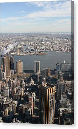New York City - View From Empire State Building - 121219 Canvas Print by DC Photographer