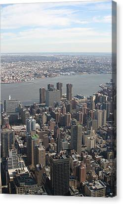 New York City - View From Empire State Building - 121220 Canvas Print by DC Photographer
