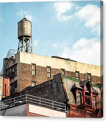 New York City Water Tower 2 Canvas Print by Gary Heller