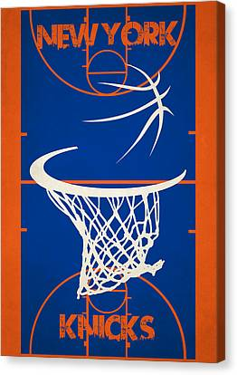 New York Knicks Court Canvas Print by Joe Hamilton