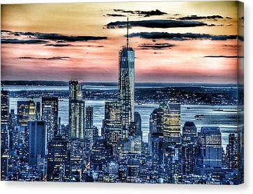 New York - Manhattan Landscape Canvas Print by Marianna Mills