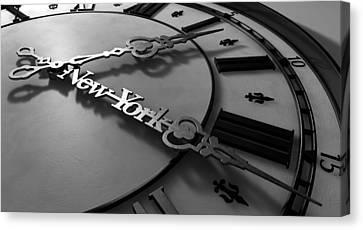 New York Minute Clock Hands Canvas Print by Allan Swart