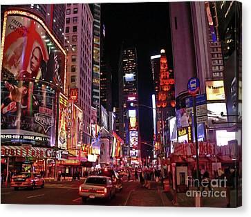 New York New York Canvas Print by Angela Wright