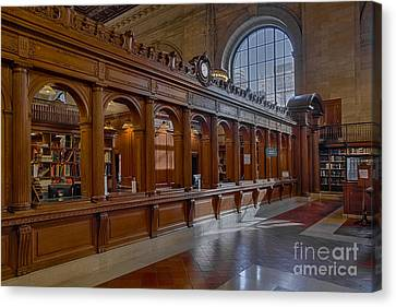 New York Public Library Book Returns Canvas Print by Susan Candelario