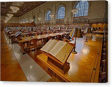 New York Public Library Rose Main Reading Room  Canvas Print by Susan Candelario