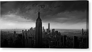 New York Rockefeller View Canvas Print by Wim Schuurmans