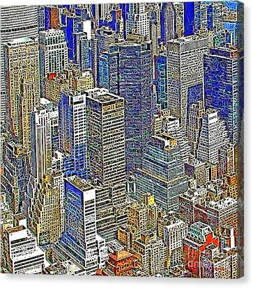 New York Skyline 20130430v5-square Canvas Print by Wingsdomain Art and Photography