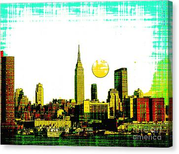 New York Skyline  Canvas Print by Celestial Images