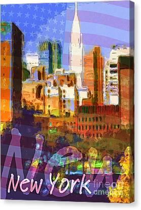 New York Stars Canvas Print by Lutz Baar